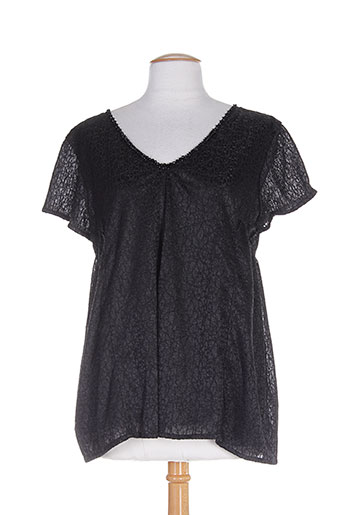 ankorel chemises femme de couleur noir
