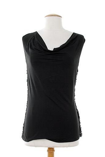 leo guy chemises femme de couleur noir