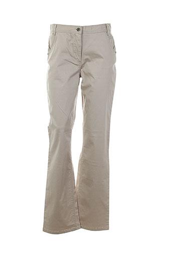 jensen pantalons femme de couleur beige