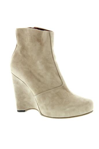 free et lance boots femme de couleur beige