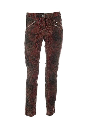 maison scotch pantalons femme de couleur rouge
