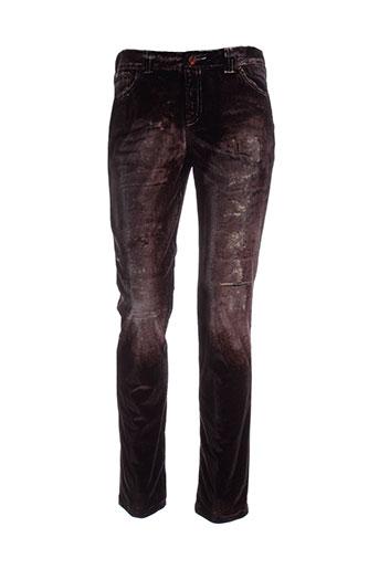 tricot chic pantalons femme de couleur marron