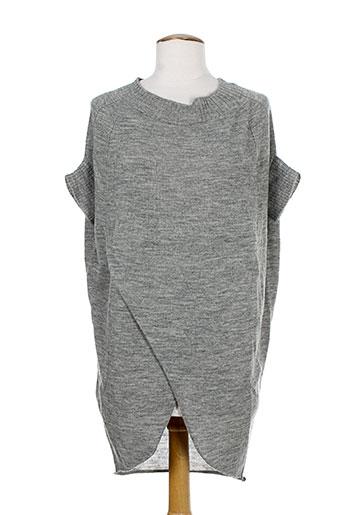 alysi pull et tuniques femme de couleur gris