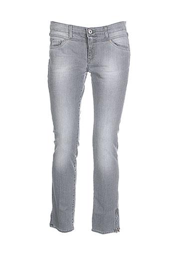renhsen jeans femme de couleur gris