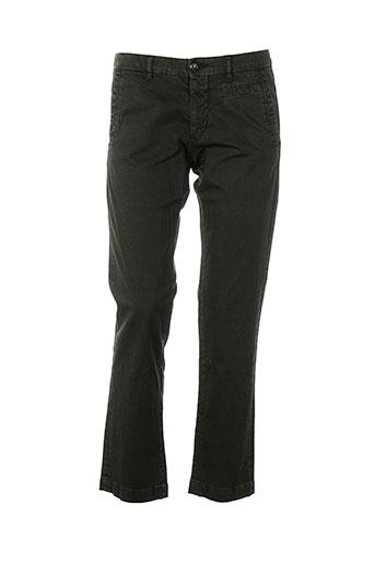 monocrom pantalons femme de couleur marron