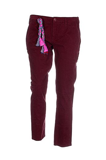 true et nyc pantalons et decontractes femme de couleur rouge