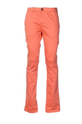 atelier oscar pantalons homme de couleur orange