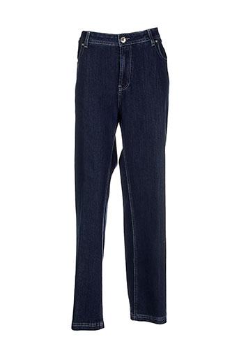villa bleue jeans femme de couleur bleu