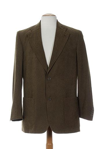 pre end vestes homme de couleur marron