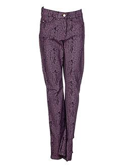 Pantalon casual violet PAUL BRIAL pour femme