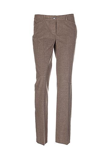 apriori pantalons femme de couleur marron