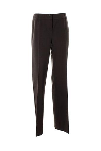 marella pantalons femme de couleur marron
