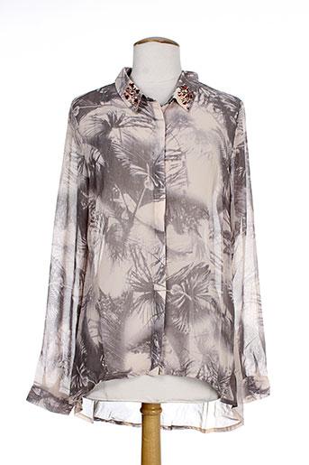 numph chemises femme de couleur gris