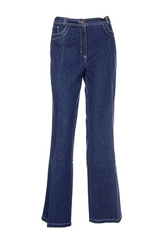 gelco jeans et coupe et droite femme de couleur bleu