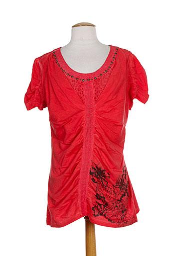 angel never die chemises femme de couleur rouge