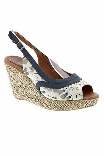 one et step sandales et nu et pieds femme de couleur bleu