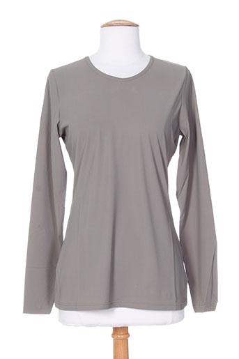 tricot chic t-shirts femme de couleur gris