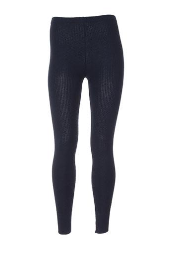 tricot chic pantalons femme de couleur bleu
