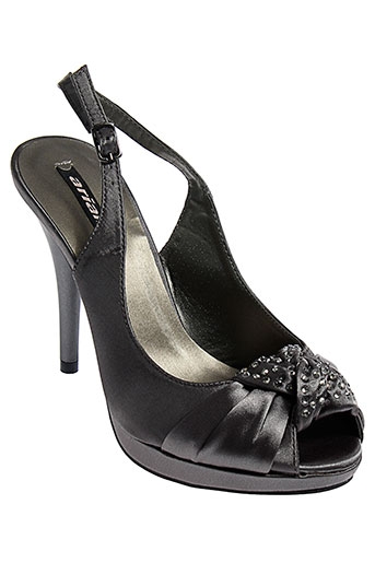 arian sandales et nu et pieds femme de couleur gris