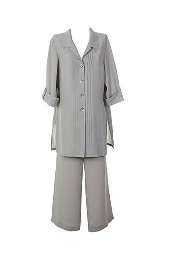 weill pantalon et veste femme de couleur gris