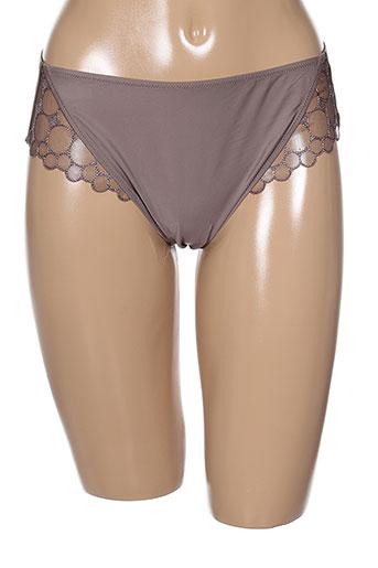fantasie shortys et boxers femme de couleur marron