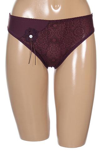 empreinte slips et culottes femme de couleur violet