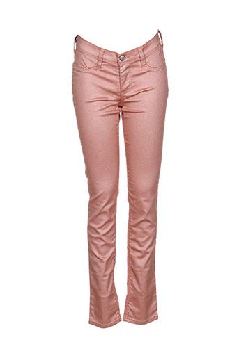 teddy smith pantalons fille de couleur orange