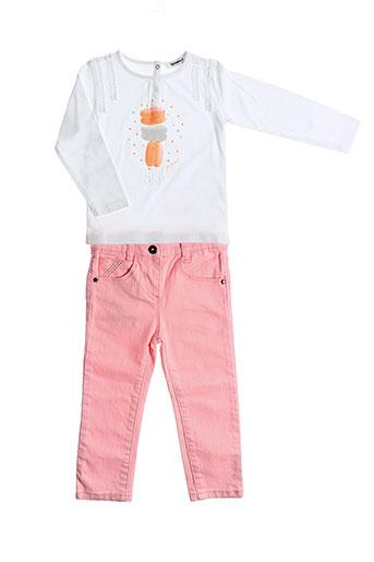 3 et pommes t et shirt et pantalon fille de couleur orange (photo)