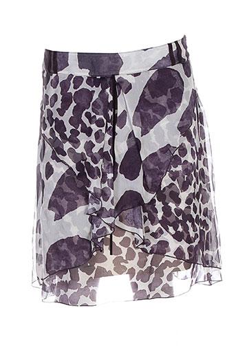 tricot chic jupes femme de couleur violet