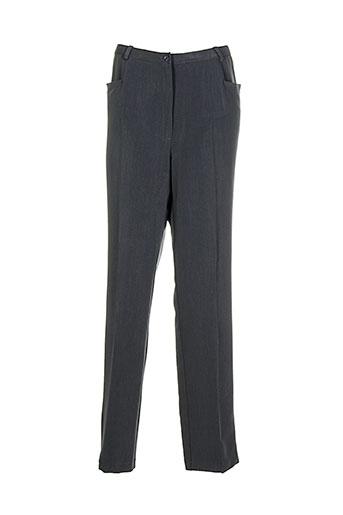 francoise f pantalons femme de couleur gris