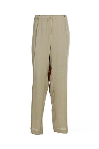 b de brel pantalons femme de couleur beige