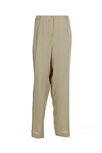 Pantalon casual beige B DE BREL pour femme