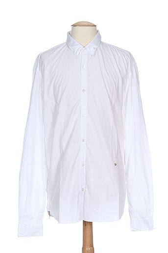 joe san chemises homme de couleur blanc
