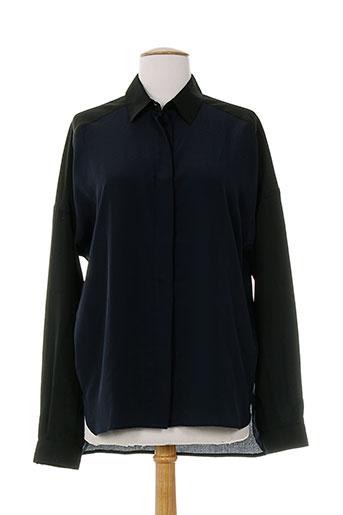 costume nemutso chemises femme de couleur bleu