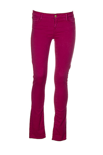 acquaverde pantalons femme de couleur violet