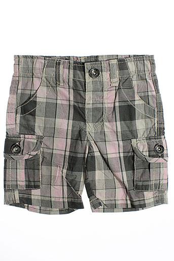 3 pommes shorts / bermudas garçon de couleur gris