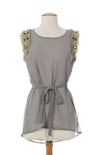 darling chemises femme de couleur gris