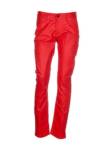 american et city pantalons et decontractes femme de couleur rouge