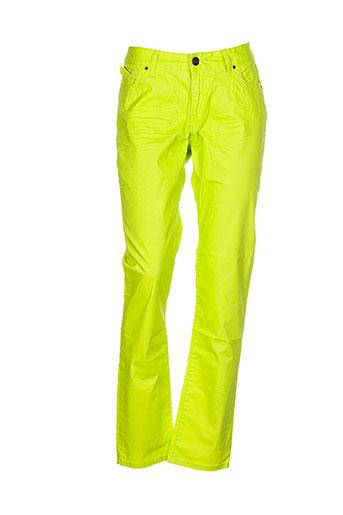 american city pantalons femme de couleur vert