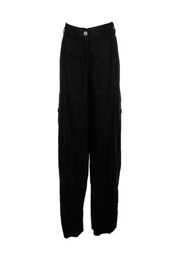 kana beach pantalons femme de couleur noir