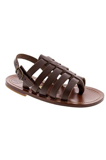 pepe chaussures fille de couleur marron