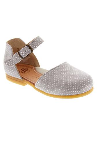 pepe chaussures fille de couleur gris