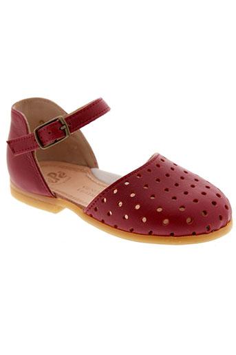 pepe chaussures fille de couleur rouge