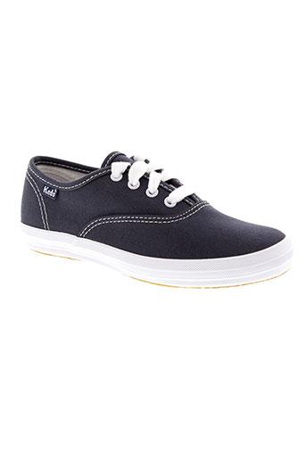 keds chaussures fille de couleur bleu