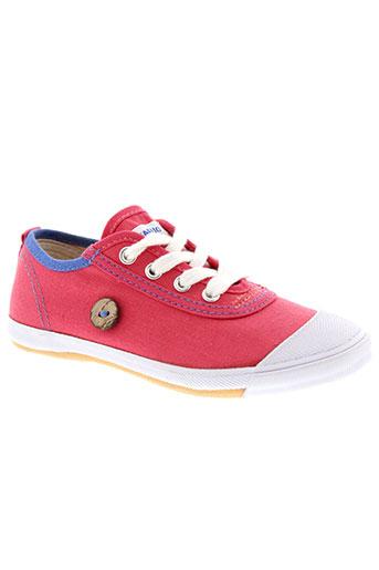 faguo chaussures fille de couleur rose