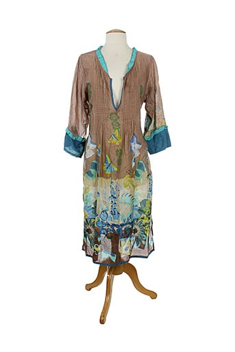 ayfee robes et longues femme de couleur marron