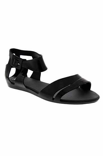 mel sandales et nu et pieds femme de couleur noir