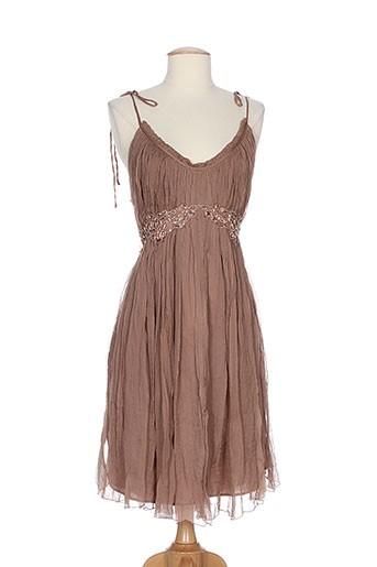 ambre et babzoe robes et mi et longues femme de couleur marron