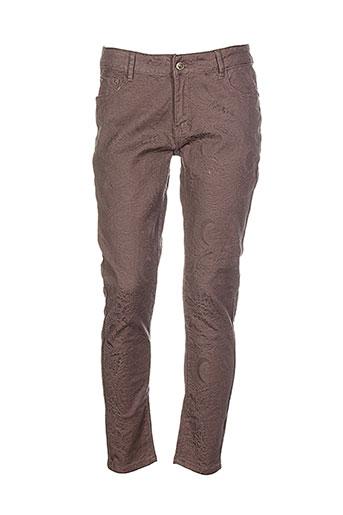 onado pantalons femme de couleur marron