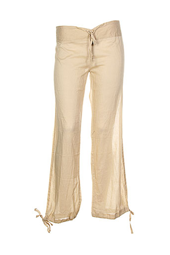 happy few pantalons femme de couleur beige